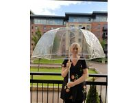 Very large clear umbrella for wedding or event