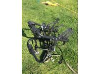 Rear High Mount 3 Cycle Carrier - fits most cars and free bike rack for garage or shed