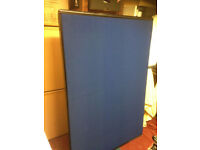 office wall partition divider screen blue grey