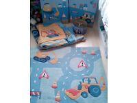 Toddler bedroom set - Diggers scene