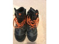Bering leather black and orange motorbike boots , as new