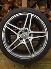 Original Mercedes C63 AMG wheels