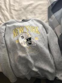 Grey New York hoodie