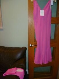 BNWT Amanda Wakeley Elements dress size 16 with matching shawl