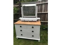 Refurbished Antique Solid Oak Dressing Table/Chest of Drawers (Can Deliver)