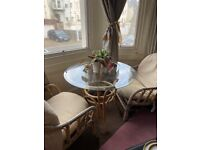 Vintage Bamboo table and chairs set