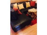 I have a corner sofa black brand new Tow month old Is good and comfortable