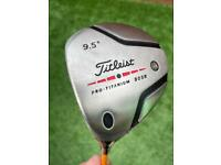 Titleist driver L/H with original head cover