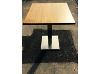 RESTAURANT TABLE BASES & TOPS X 2