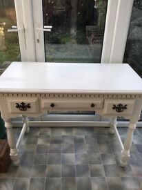 Shabby Chic Dressing table, hall console table with mirror and drawers