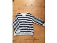 Grey stripe Next Jumper 5 yrs