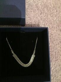 Swarovski 38cm Silver Diamond Necklace