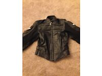 Hein Gericke ladies leather motorcycle jacket