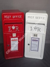 White or Red Royal Mail Wedding Post Box - To Hire £30.00