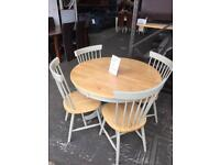 Whickham table with 4 x chairs. New