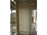 Vertical Blind, 56.5cm wide, 178cm drop 13cm wide louvres