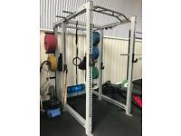 Squat rack / power rack with attachments and pull up bar