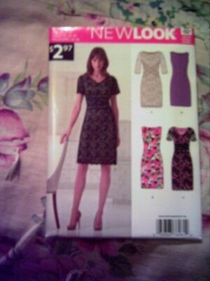 NEW LOOK #A6261 Simplicity CLASSIC FITTED MISSES DRESS Lace Overlay Multi SZ8-18