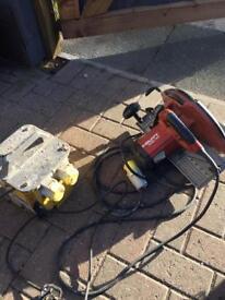 Hilti 110v Circular saw with transformer