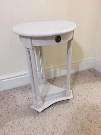 Lamp table with draw