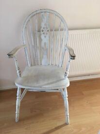 Lovely shabby chic farmhouse arm chair