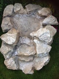 Natural 'Purbeck' stone effect fibreglass garden waterfall
