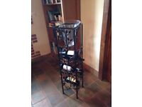 Glass & Metal decorative wine rack