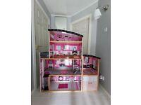 KidKraft Sparkle Mansion Doll House Barbie with furniture