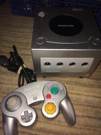 Silver Nintendo GameCube console