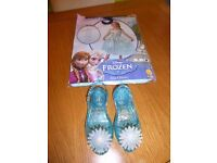 Disney Elsa dress (brand new) & light up shoes
