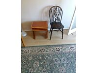 Dining chair, nesting tables and small table/magazine rack