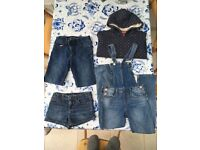 Lovely Mini Boden & Gap Girls Collection - Denin & Mini Boden Hoodie Bundle - Aged 8