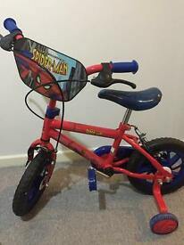 Spiderman boys bike 10'