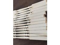 13 Used!! Wooden staircase spindles