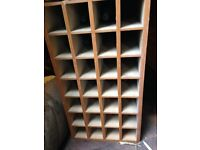 Retro wooden cabinet with 28 compartments