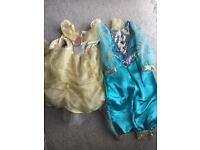 2 Disney Princess 3-4 outfits. Jasmine Belle