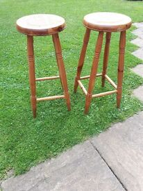 Ducal antique pine Breakfast Bar Stools (2)
