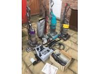 Dysons and Kirby vacuum cleaners