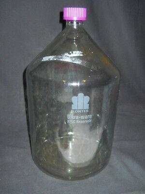 Kontes Ultra-ware Flat Bottom 10l Plastic-coated Glass Hplc Reservoir Worn