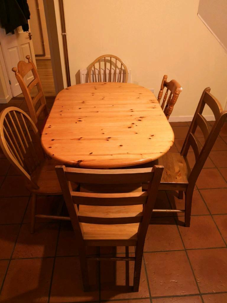 Folding Dining Table And 6 Chairs