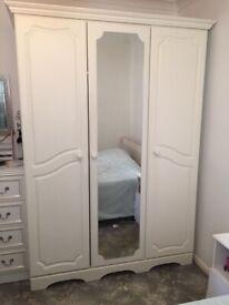 White triple wardrobe