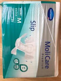 Unisex unopened incontinence Pads