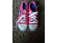 Girls pink Heelys