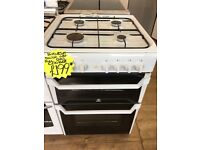 INDESIT 60CM ALL GAS COOKER IN WHITE