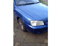 Blue Hyundai Accent 1.4 Manual for Sale Good Condition