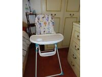 NEW-Baby/Toddler FIRE RESISTANT SEATED Foldable Highchair.