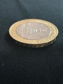 Mint Error written in reverse. Rare First World War 1914-1918 2 Pound Coin 2015