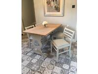 Restored kitchen/Dining Table & 4 chairs