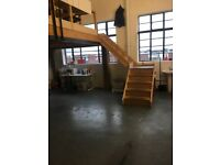 Amazing value 650 sqft London, south east, peckham workshop studio space - mezzanine, natural light