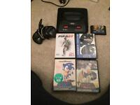 Sega Megadrive console and games